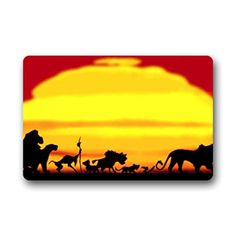 "Home & Garden&POPULAR Welcome & Halloween Costume personalized entrance mats,The Lion King Non-slip Doormat 23.6""(L) x15.7""(W),about 60cm(L) x 40cm(W) - Brought to you by Avarsha.com"