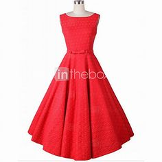 Women's Going out / Party/Cocktail Simple A Line / Skater Dress,Jacquard Round…