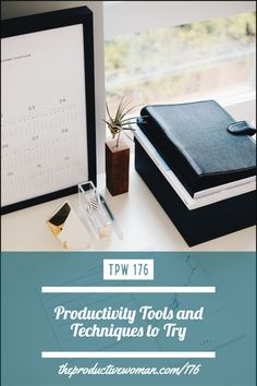 In episode 176 of The Productive Woman podcast I take a look at a few productivity tools and techniques I don't use regularly, to see whether they might fit into my (and your) workflow. Find more at TheProductiveWoman.com/176.