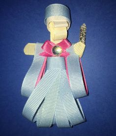 Fairy Godmother Ribbon Sculpture by Reneespixiedust on Etsy Ribbon Sculpture, Fairy Godmother, Disney Inspired, Felt, Christmas Ornaments, Unique Jewelry, Holiday Decor, Handmade Gifts, Inspiration