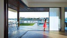 Built-in screens and shades vanish leaving perfectly framed views to the beautiful world outside. Shadforth Project | Sunshine Coast, Australia.