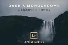 Dark & Monochrome, Lightroom Presets by PhotoMarket on @creativemarket Best professional lightroom presets packs for more modern and trendy style in your photography. Perfect for portrait, wedding, landscape, urban, travel, creative, blogging.