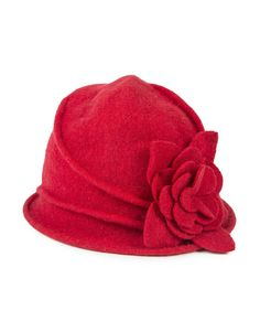 'Flower' Wool Cloche