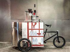 Velopresso: uma bicicleta que serve cafés na rua