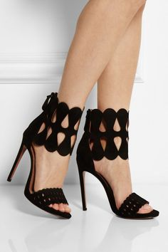 Alaïa | Cutout suede sandals