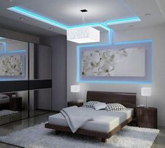 Modern Ceiling Design For Bedroom. This awesome picture collections about Modern Ceiling Design For Bedroom is available to save. False Ceiling Living Room, Bedroom Ceiling, Ceiling Decor, Ceiling Ideas, Ceiling Lighting, Led Ceiling, Drywall Ceiling, Bedroom Chandeliers, Ceiling Grid