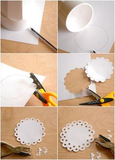 DIY Craft: How to make a Paper Doily - would be fun with the kiddo and some sort of spray paint or decoupage project.