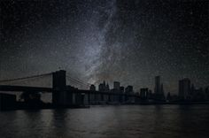 and a final pretty spectacular image created by Thierry Cohen of Brooklyn Bridge - lights out all out