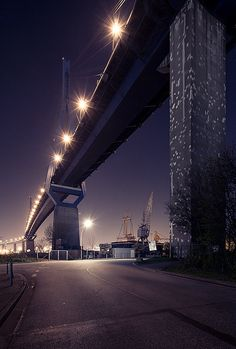 Hamburg, Germany | #hamburg #harbour #street #bridge #lights < repinned by www.BlickeDeeler.de