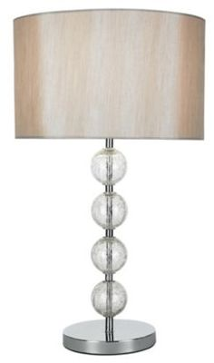 Gina Crackle Ball Chrome Effect Table Lamp, 0000005267057