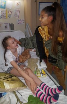 Ariana Grande visited Royal Manchester Children's Hospital on Friday to meet young fans recovering from the bombing at the end of her May 22 concert.
