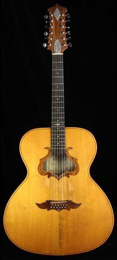 """1973 Zemaitis """"Harp"""" 12-String Acoustic Guitar --- https://www.pinterest.com/lardyfatboy/"""