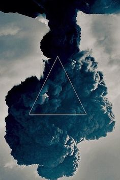 Blue triangle + smoke