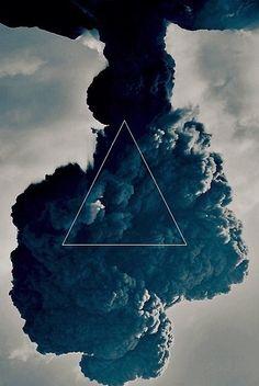 Blue triangle + smoke