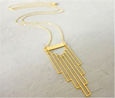 Shlomit Ofir - Empire Necklace, Art Deco inspired jewelry