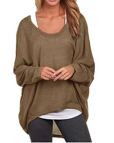 c083dc69d1 ZANZEA Women s Long Batwing Sleeve Loose Oversize Pullover Sweater Top  Blouse US  fashion  clothing  shoes  accessories  womensclothing  tops  (ebay link)