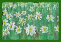 Een veld vol madeliefjes Watercolor Artists, Art Lessons, Spring, Plants, Kids, Shop Signs, Color Art Lessons, Young Children, Boys