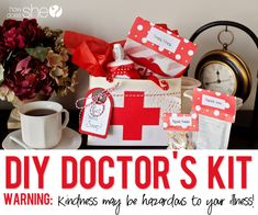 "Make the day of someone feeling sick. Learn how to make your own adorable ""doctor's kit"" to brighten their day and chase that illness away!"