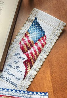 patriotic bookmark (click pattern & key)