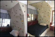 Rock climbing wall - headboard !!