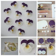 DIY Polymer-Clay-Pansy by Wonderful DIY, via Flickr
