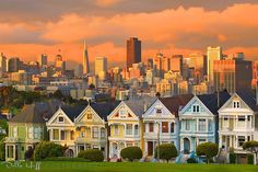 Stormy Sunset, Alamo Square, San Francisco (by Della Huff Photography, via Flickr) #SF