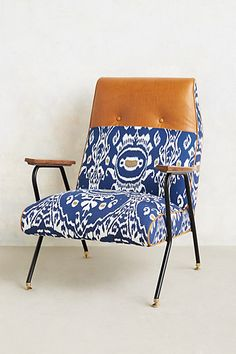 DYING over this Midnight Ikat Chair  - anthropologie.com