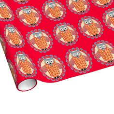 Owl pattern wrapping paper