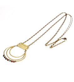 Jola Beaded Brass Necklace