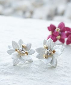 a2abee030 Camellia Flower Stud Earrings Peach Colors, Camellia, Couples Coupons,  Girls Jewelry Box,
