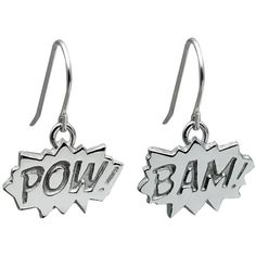 Edge Only - Pow and Bam Drop Earrings in Silver (1.892.820 IDR) ❤ liked on Polyvore featuring jewelry, earrings, sparkle jewelry, silver jewelry, sparkly earrings, silver earrings and silver jewellery
