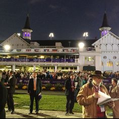 Night racing at Churchill Downs.