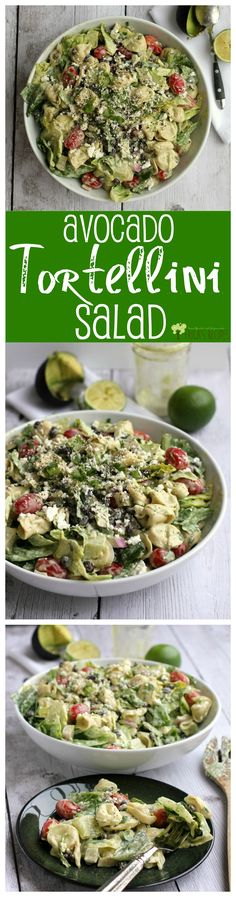 Avocado Tortellini Salad from EricasRecipes.com
