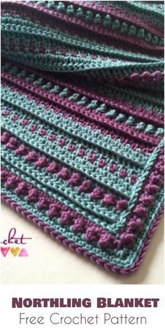 Northling Blanket - Free Crochet Pattern Follow us for more FREE crocheting patterns for Afghans, Blankets, Throws.