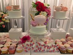 Basil and Chaise: Party Ideas: Pretty in pink, floral kitchen tea ideas