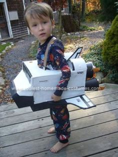 Homemade Space Shuttle Halloween Costume: My son wanted a Homemade Space Shuttle Halloween Costume.  Space Shuttle?  Don't you mean an astronaut?  --No, he corrected me, THE Space Shuttle.  So
