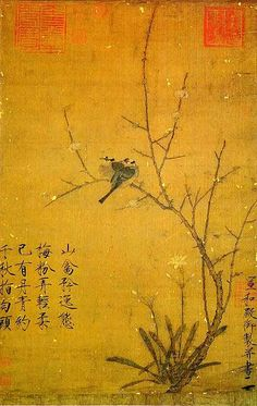 Song Dynasty Emperor Huizong's 'Plum and Birds' scroll.