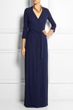 DIANE VON FURSTENBERG Abigail jersey-crepe wrap maxi dress $500.00 http://www.net-a-porter.com/products/515308