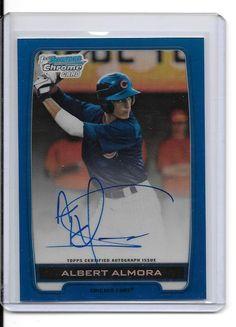 2012 Bowman Chrome Draft Draft Pick Autographs Blue Refractor Albert Almora Cubs #ChicagoCubs