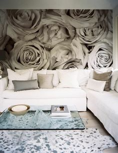 I love the idea of a huge piece of art as a focal point