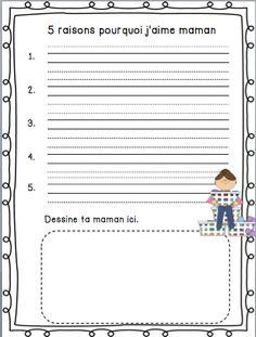 French mother's day activities/ Activités Fêtes des mères à imprimer