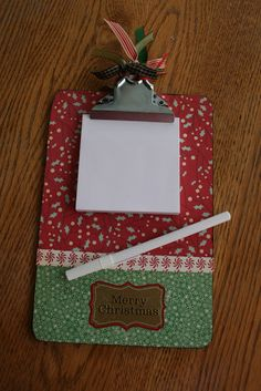 scrapbook paper covered clipboard Echoes of Laughter: creative projects