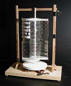 Savonius vertical wind mill - a DIY kit for children - vertikaali tuulimylly - tee se itse malli sopiva lasten kanssa askarteluun