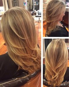 Beautiful blonde done by our talented colorists with haircut and styling by our wonderful stylists at The Beauty Box in Rye, Ny.