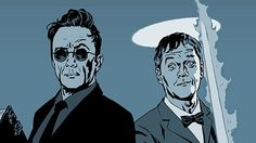 BBC Radio 4 - Good Omens- Crawley and Aziraphale. Doesn't Crawley look a tad like RDJ?!