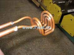 U shape induction coil - Induction coil (inductor) is very impotant for the induction heating system, it can influence the output frequency and ouput current (power) of induction heater. When the length of induction coil is too long or too short, induction heat can't work or the machine can't output a best power.  However, there is no formula for you to design an inductoin coil for each application, it's often depend on experience, and this is the biggest disadvantage of induction heating.