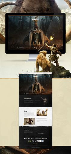 Far Cry Primal Website on Behance