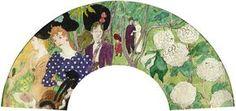 Bonnard, Pierre - femme et fleurs, 1895, l'eventail (fan, Fächer)
