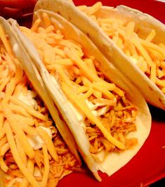 Crock-pot chicken tacos!