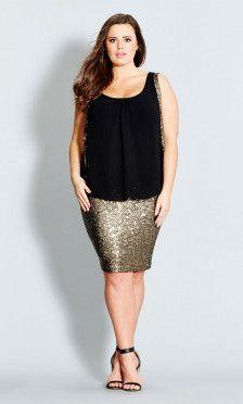 Shop Women's Plus Size Women's Plus Size Sequin Sister Dress   City Chic USA